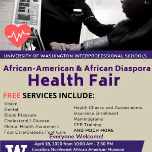 POSTPONED: African American & African Diaspora Health Fair